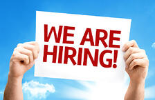 We are Hiring card with a beautiful day